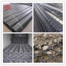 Plástico fibra de vidro Triangial uniaxial biaxial Geogrid biaxial do animal de estimação do HDPE dos PP para a estrada