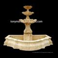 Drei-Ebenen-Beige-Marmor-Skulpturenbrunnen (SY-F012)