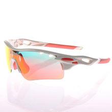 Jie Polly Radfahren taktische sprengungshemmende Sonnenbrillen Gläser Sonnenschutzbrille weiß