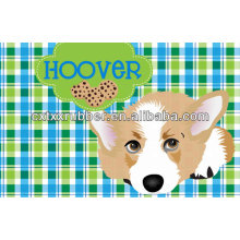 Perro placemat, personalizó perro placemats