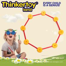 Geométrica 2D contorno forma brinquedo de construção para crianças