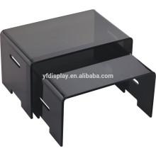 Top vente morden table basse en matériau acrylique