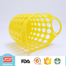 New style household PE plastic clothes basket with handle