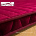 Luxury hotel cheap and fineWhite removable waterproof bed mattress Flannel mattress pads