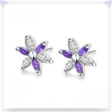 Кристалл серьги ювелирные изделия стерлингового серебра 925 ювелирные изделия (SE047)