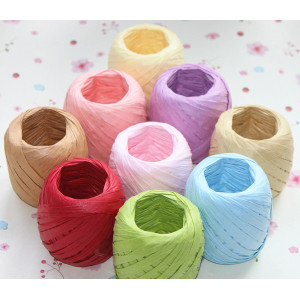 Hot Sale Colored Paper Raffia For Gift