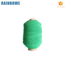 Precio barato tipos completos de hilo cubierto de goma de látex de poliéster