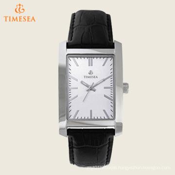 Men′s Rectangular Dial Black Strap Watch 72554