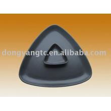 Directo de fábrica al por mayor 9 | Placas esmaltadas de cerámica negra de 3 pulgadas