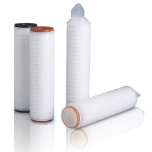 Cartucho de filtro plissado PP com adaptadores