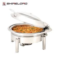 Commercial C053 Guangzhou Catering Round Roll Chafing Dish Precio del calentador de alimentos