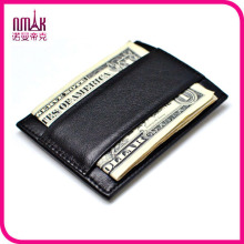 Genuine Real Leather Thin Money Clip Magnet Wallet Slim Credit Card Holder Mini ID Case