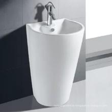 free hand wash public standing ceramic basin art  craft