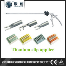 Fábrica Directamente Nuevo 10X330mm Laparoscópico Doble Acción Lt300 Titanium Clip Applier
