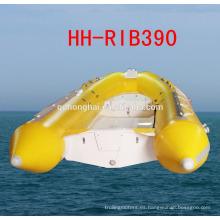 RIB390 goma barco barco inflable rígido casco del barco con CE