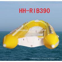 RIB390 bateau caoutchouc bateau canot pneumatique à coque rigide avec CE