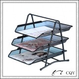 Metal mesh 3-tier document tray