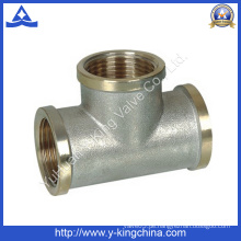 Nickel Plated Brass Female Tee Fitting (YD-6035)