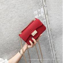 Cheap Fashion Ladies Latest Hand Bags Best Seller Women Chain Small Jelly Purse Handbags