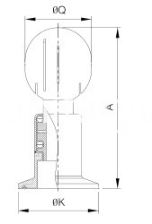 sanitary clamped rotary cleaning ball
