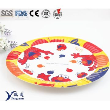 8inch Fancy Customized Printed Disposable Bulk Paper Plates