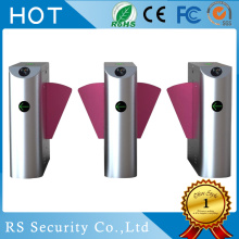 RFID Card Reader Fingerprint Scanning Flap Barrier