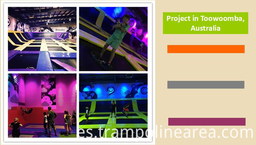 Projects of trampoline park equipment for sale