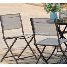Textilene Outdoor furniture 3pc sling chat set