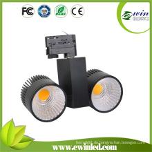 2X20W LED-Schienenstrahler mit Hight-Helligkeit 3-Leiter-1-Schaltung