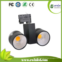 2X20W LED Track Light with Hight Brightness 3wires-1 Circuit