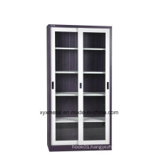 Steel Iron Kd High Quality Designed Sliding Door Glass Storage Cupboard