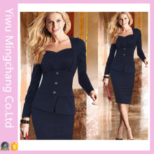 Plus Size Mulheres Autumn Business Casual Office Dress