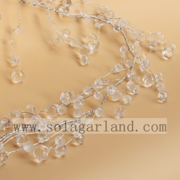 Elegant Acrylic Crystal Drop Beaded Tree Branches