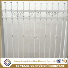 Galvanized Ornamental Metal Garden Fence