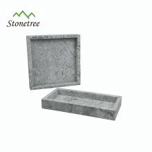 Plateau de vanité en marbre naturel, plateau de rangement