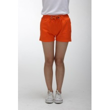 Ladies orange high waisted shorts