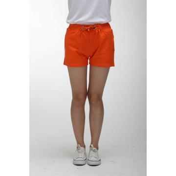 Damen orange hoch taillierte Shorts