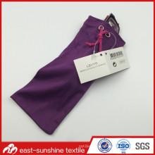 Card Labeled Microfiber Drawstring Bag for Glasses