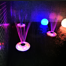 LED ışık çeşme Gölü su oyuncakları