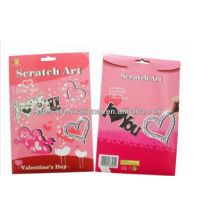 8pcs Valentine's day design scratch art creative craft scratch card