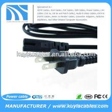 US 2-Prong Port Plug cabo adaptador de alimentação para laptop
