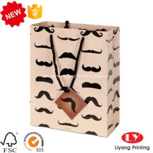 Fancy custom printed gift packaging paper bag
