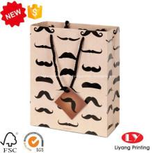 Fantasia personalizado impresso saco de papel de embalagem de presente
