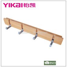 Crochet de porte en bois de qualité supérieure 2015 avec étagères en aluminium