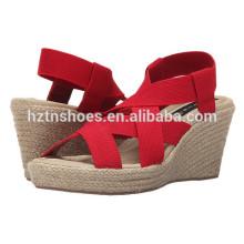 2016 Sommer Schuhe Sandalen Großhandel Damen Fancy Espadrille Sandalen