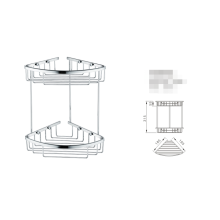 Estante de ducha Soporte para champú de dos niveles