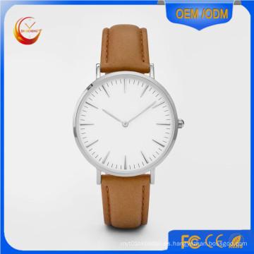 Reloj de acero inoxidable del reloj del cuarzo de los hombres de las señoras de la manera (DC-234)
