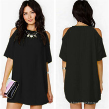 2015 Women′s Summer Sexy Chiffon Casual Short Mini Dress (50114-1)