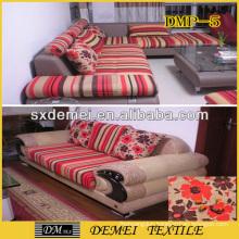 woven pretty printed textile sofa pillow fabric