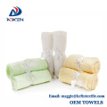 Factory wholesale 100% bamboo white organic face cloths with ribbon